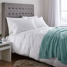 catherine lansfield home classic lace bands embellished duvet