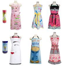 apron designs that include both retro apron patterns and a modern