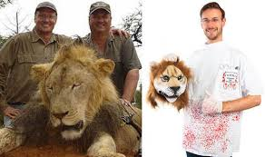 get your cecil the lion halloween costume with severed lion head