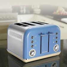 Blue 4 Slice Toaster Morphy Richards 242007 Accents 4 Slice Toaster Corn Flower Blue