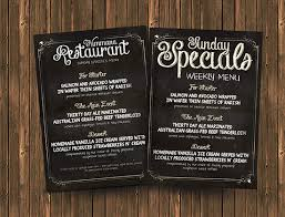 photoshop menu template free chalk board menu psd flyer template mockup
