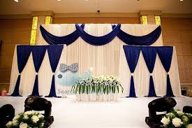 wedding backdrop online beautiful style white color wedding backdrop curtain incude navy