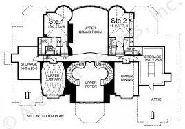 grand staircase floor plans chateau de josselin mansion house plan luxury house plan