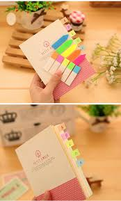 fluorescent index sticker bookmark memo pad tab sticky notes