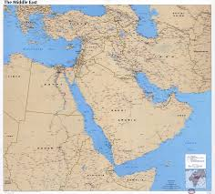 Asia And Middle East Map by Large Scale Detailed Political Map Of The Middle East With Roads