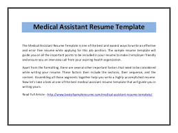 Medical Assistant Resume Example by Medical Assistant Resume Template Pdf