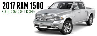 2017 ram 1500 exterior color options