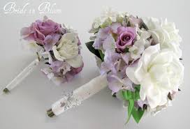 gardenia bouquet wedding bouquet set white gardenia lavender bridal