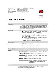 Sample Resume For Ojt Computer Science Students by Resume Format For Hotel Management Student Resume Format