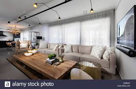 Living And Dining Modern Apartment Tel Aviv Spacious Open Plan Living And Dining