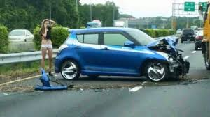 Car Accident Meme - poor girl even damaged her clothes in the accident meme guy