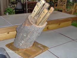 cool knife block log knife blocks by tonybrews lumberjocks com woodworking