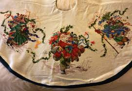 counted cross stitch tree skirt made by my flickr