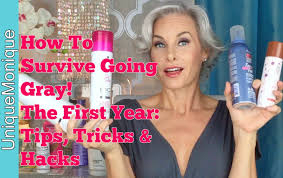 women in forties and grey hair how to survive going gray the first year tips tricks hacks