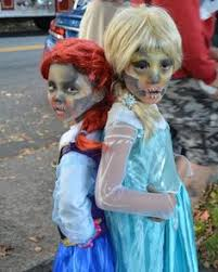 Elsa Halloween Costumes Zombie Elsa Makeup Catymosley Caty Mosley Creations