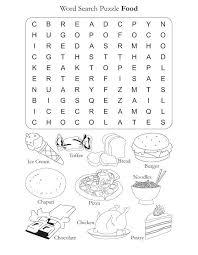 food vocabulary words word search puzzle worksheet english