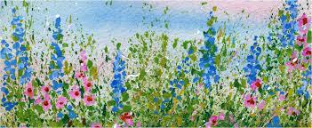 create a splattered paint flower garden my flower journal