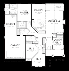 House Plans With Vaulted Great Room by Mascord House Plan 1231fa The Sutton