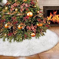 35 4 tree skirts faux fur tree
