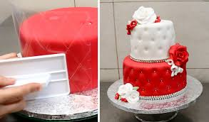 Decorating Idea by Quilted Cake Decorating Idea By Cakesstepbystep Youtube