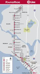 Seattle Map Downtown by Service Change Information King County Metro Transit