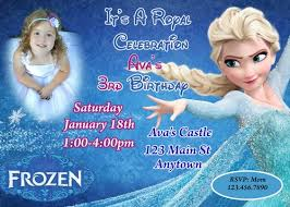 frozen birthday invitation invitations printable invitations