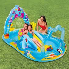 Backyard Inflatable Pool by Amazon Com Intex Mermaid Kingdom Inflatable Play Center 110