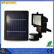 high lumen solar spot lights digital 60 led outdoor indoor solar flood light with pir motion