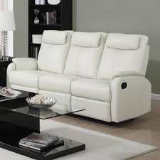 White Leather Recliner Sofa Set by Amazon Com Monarch Specialties I 81iv 3 Ivory Bonded Leather