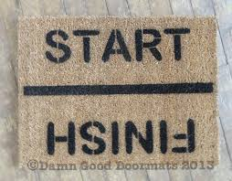 start finish rat race runner funny novelty doormat damn good