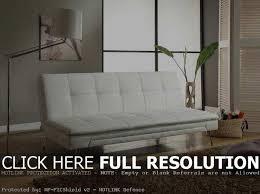 impressive white faux leather futon with white leather futon sofa