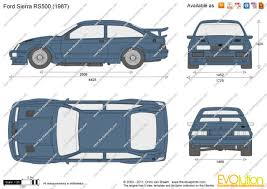 ford sierra rs cosworth group a 1987 racing cars