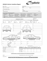 car report template exles vehicle condition report templates word excel sles