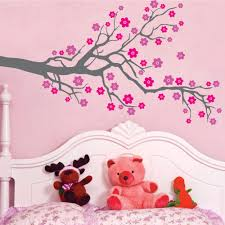 Cherry Blossom Wall Decal For Nursery Tree Blowing Cherry Blossom Wall Decal Nursery Tree Flowers