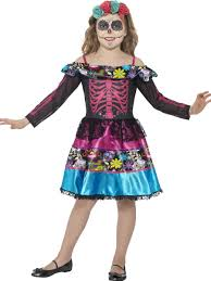 child day of the dead sweetheart costume 44930 fancy dress ball