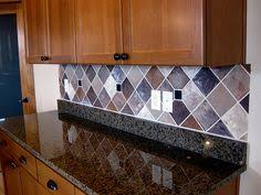 how to paint tile backsplash in kitchen painted backsplash slate subway tiles subway tiles slate and