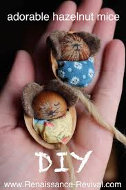 diy and video of how to make these adorable hazelnut mice great
