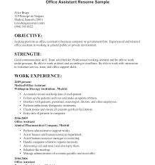 office assistant resumes resume for office assistant
