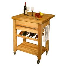 decorating endearing butcher block cart create lovable kitchen