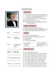 Chemist Resume Curriculum Vitae Michael Lever