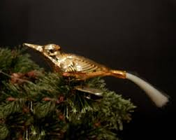 gold bird ornaments etsy