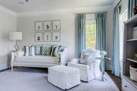 blue and gray nursery with bellina twin daybed transitional