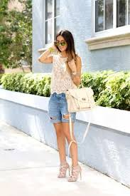 Material Girls Blog Striped Shorts Big Red Bag Chanel Espadrilles Ray Ban