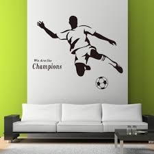 football boy wallpaper 3d wall stickers 8257 for kids room vinyl