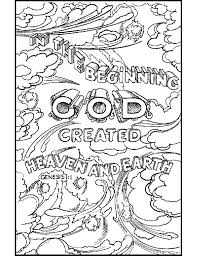 creation coloring pages day 7 days of creation printable coloring