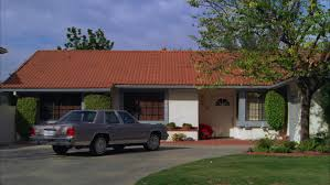day across california style 3 story tan brick tiled office