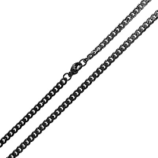black rope chain necklace images Mens rope chain black plated stainless steel necklace