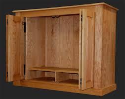 Entertainment Center Cabinet Doors Cherry Shaker Style Armoire Custom Handmade Entertainment Center