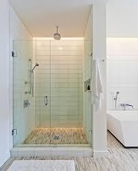 Shower Bath Mat Glass Tile Shower Bathroom Contemporary With Bamboo Bath Mat Beige