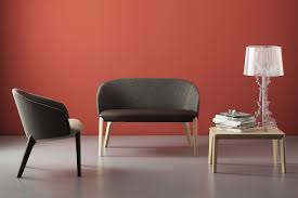contemporary upholstered bench leather beech black